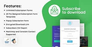 Subscribe to Download – An advanced subscription plugin for WordPress