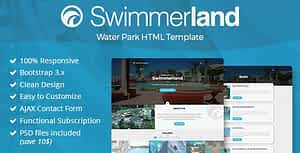 Swimmerland – Water Park HTML Template