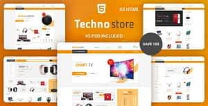Techno Store – Electronic eCommerce HTML Template