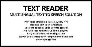 Text Reader – Text To Speech for jQuery