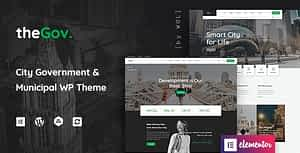 TheGov –  Municipal and Government WordPress Theme