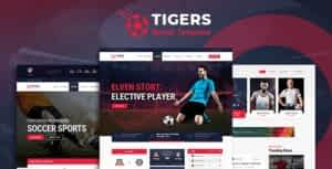 Tigers – Soccer Sports HTML Template