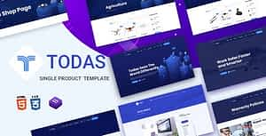 Todas – Single Product HTML Template
