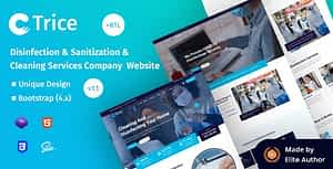Trice – Disinfection & Sanitization Services HTML Template