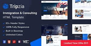 Tripzia – Immigration and Visa Consulting HTML Template