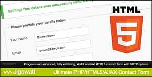 Ultimate PHP, HTML5 & AJAX Contact Form
