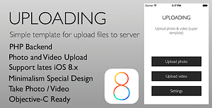 Uploading – Simple template for upload files iOS 8