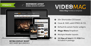 VideoMag – Powerful Video HTML Template