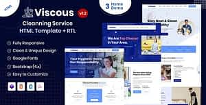 Viscous – Cleaning Service HTML Template