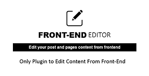 WP Quick Front-end Editor – WordPress Plugin