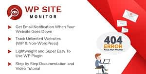 WP Site Monitor – WordPress Plugin For Monitoring Your Websites Availability