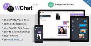Wchat – Fully Responsive PHP AJAX Chat Script