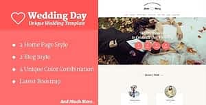 Wedding Day – HTML Template