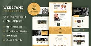 Weestand – Charity HTML Template