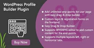 WordPress Profile Builder Plugin