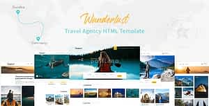 Wunderlust – Travel Tour HTML Template
