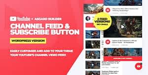 Youtube Channel Feeds and Subscribe Box WordPress Plugin