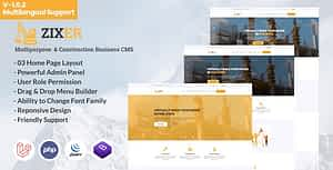 Zixer – Multipurpose Website & Construction Business Company CMS