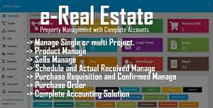 e-Real Estate – Property Management with Complete Accounts