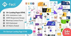 i-Fact Landing Page HTML Template