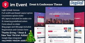 imEvent – Conference Landing Page HTML Template