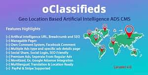 oClassifieds – PHP and Laravel Geo Classified ads cms