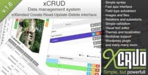 xCRUD  – Data Management System (PHP CRUD)