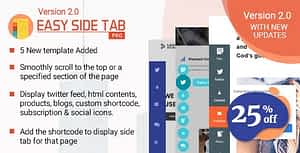 Easy Side Tab Pro – Responsive Floating Tab Plugin For WordPress