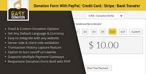 EasyDonation Form PayPal/Stripe/Credit Card/Bank Transfer