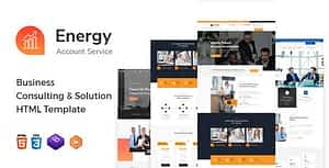 Energy – Business Consulting and Professional Services HTML Template