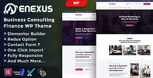 Enexus – Consulting Business Elementor WordPress Theme