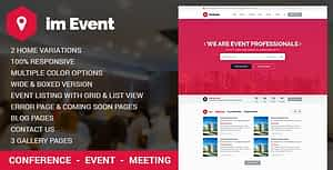 Event Management HTML Template with RTL version