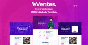 Eventes – Conference and Event HTML Template