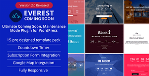 Everest Coming Soon – Ultimate Coming Soon, Maintenance Mode Plugin for WordPress