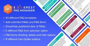 Everest FAQ Manager – Responsive Frequently Asked Questions (FAQ) Plugin for WordPress
