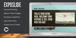 ExpoSlide – Creative One Page Html Template