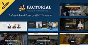 Factorial – Industrial And Engineering HTML Template