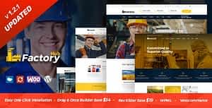 Factory HUB – Industry and Construction WordPress Theme