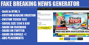 Fake Breaking News Headline Generator