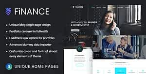 Finance Consultant – Consulting WordPress Theme