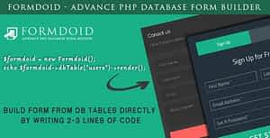 Formdoid – Advance PHP Database Form Builder