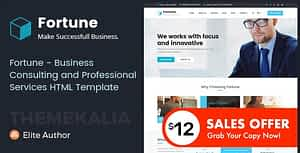 Fortune – Business Consulting and Professional Services HTML Template