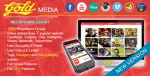 Download Free Gold MEDIA – PHP Script