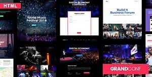 Grand Conference | Event HTML Template
