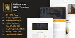 Download H4 – Modern HTML Template