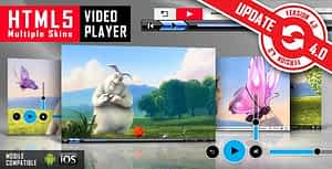 HTML5 Video Player with Multiple Skins
