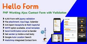 Hello Form – PHP Working Ajax Contact Form with Validation