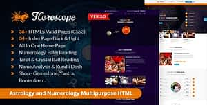 Horoscope – All in one Astrology and Numerology HTML Template