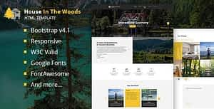 House In The Wood – Tourism and Entertainment HTML Template