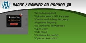 Image / Banner Ad Popup Plugin for WordPress